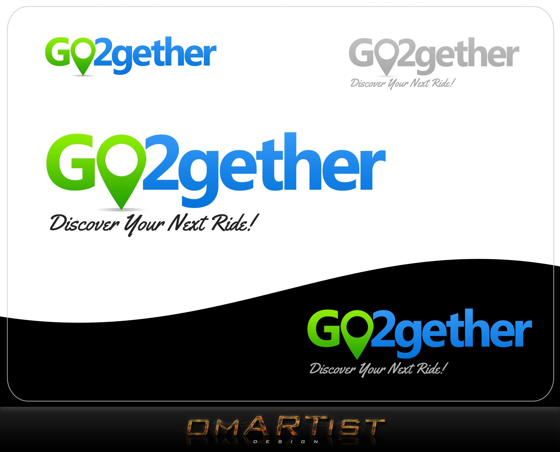 Logo Design by omARTist - Entry No. 142 in the Logo Design Contest Captivating Logo Design for GO2GETHER.