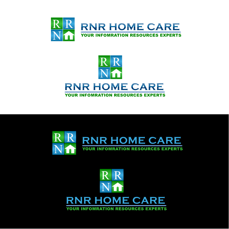 Logo Design by RAJU CHATTERJEE - Entry No. 21 in the Logo Design Contest Imaginative Logo Design for RNR HomeCare.