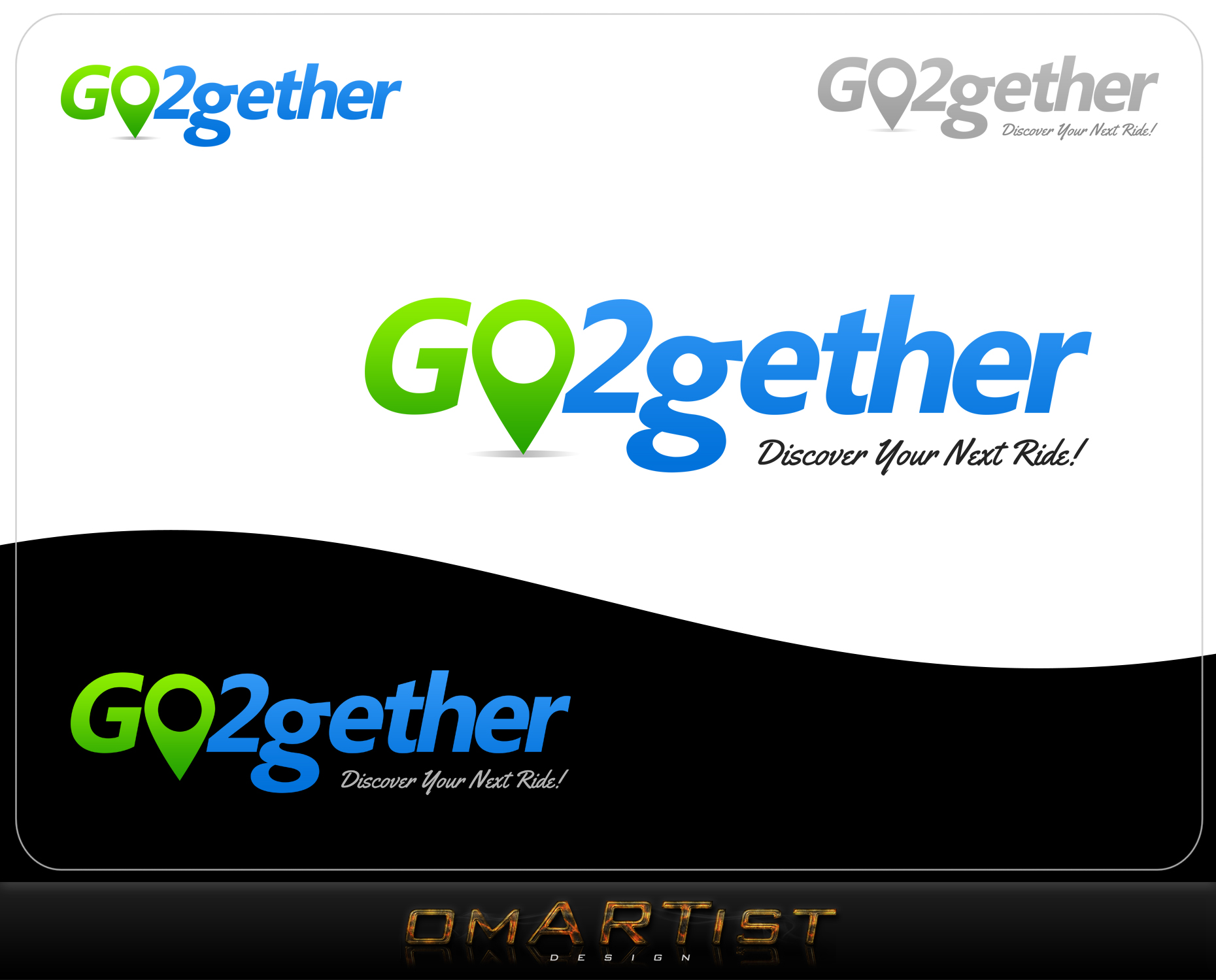 Logo Design by omARTist - Entry No. 143 in the Logo Design Contest Captivating Logo Design for GO2GETHER.