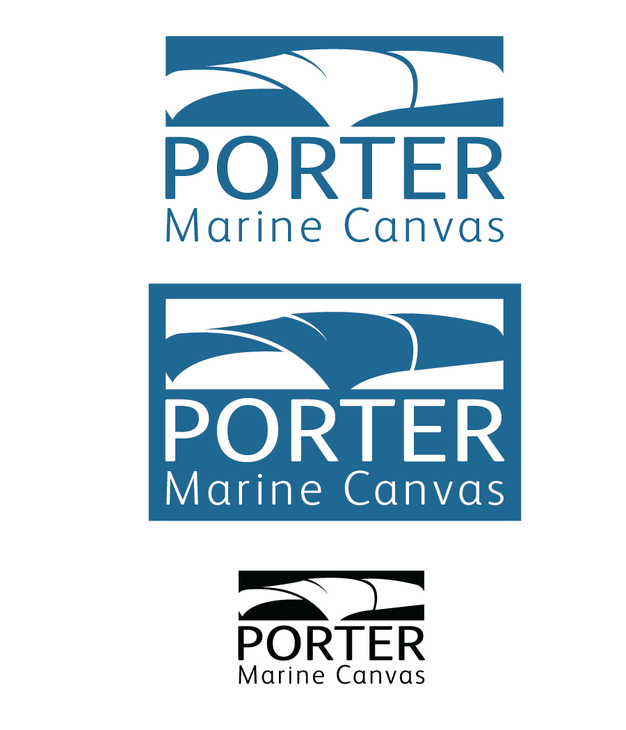 Logo Design by Christina Evans - Entry No. 31 in the Logo Design Contest Imaginative Logo Design for Porter Marine Canvas.