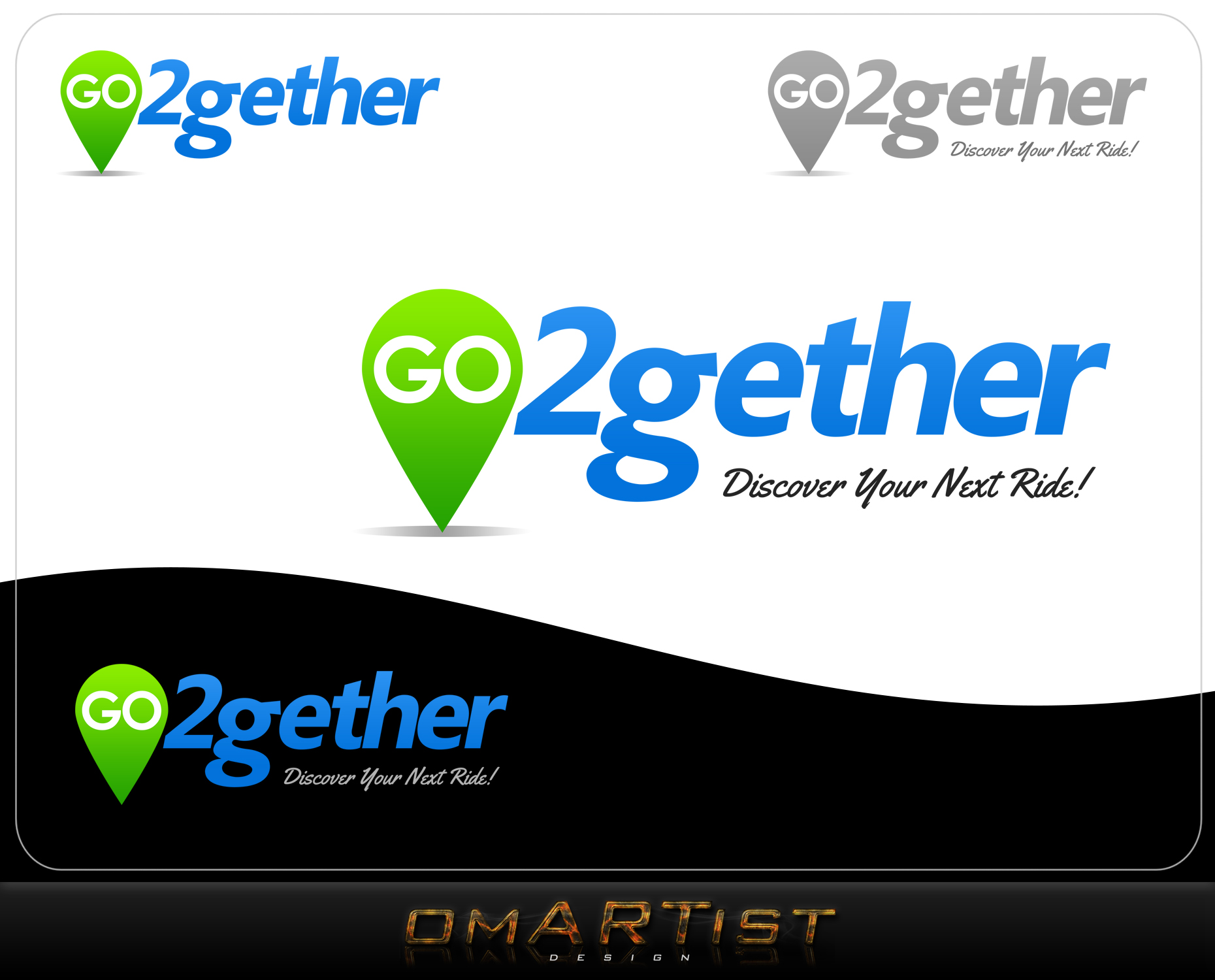 Logo Design by omARTist - Entry No. 163 in the Logo Design Contest Captivating Logo Design for GO2GETHER.