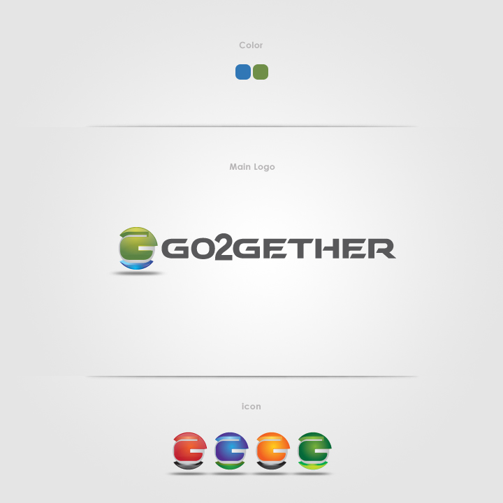 Logo Design by Shujaat Jaffri - Entry No. 167 in the Logo Design Contest Captivating Logo Design for GO2GETHER.