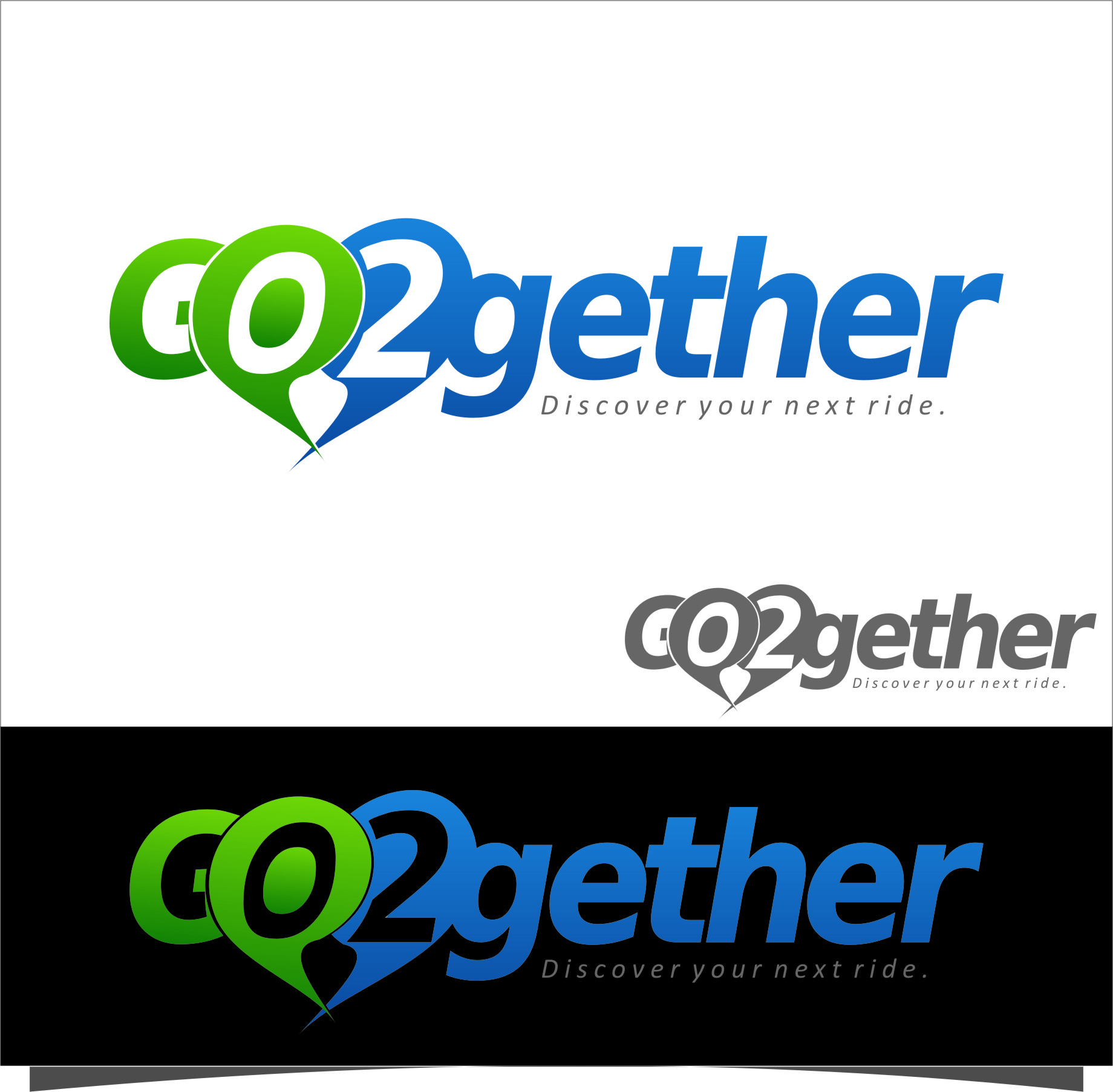 Logo Design by Ngepet_art - Entry No. 173 in the Logo Design Contest Captivating Logo Design for GO2GETHER.