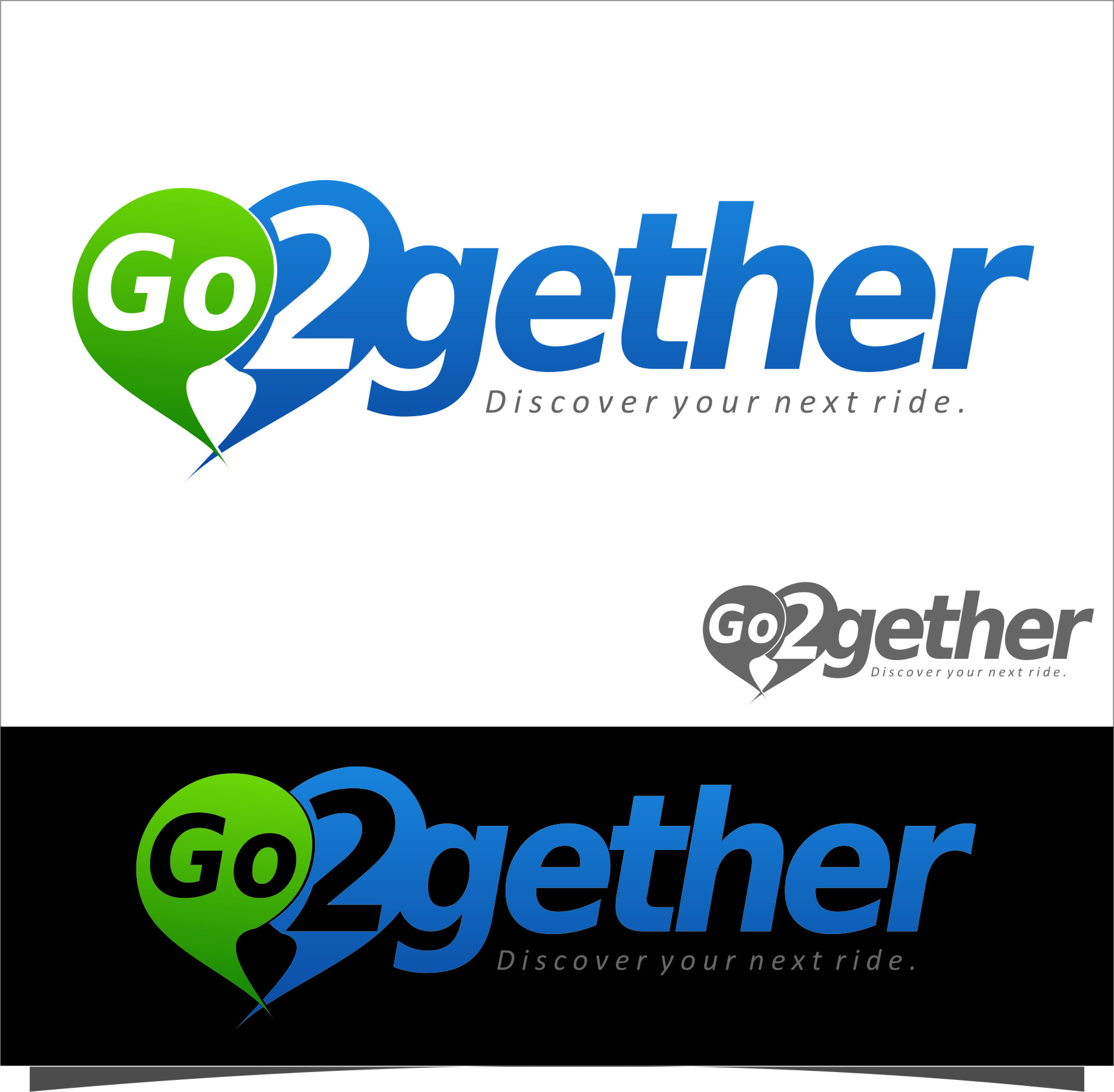 Logo Design by RasYa Muhammad Athaya - Entry No. 174 in the Logo Design Contest Captivating Logo Design for GO2GETHER.