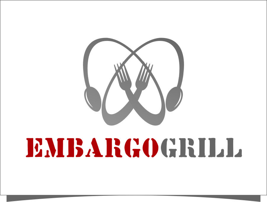 Logo Design by Ngepet_art - Entry No. 1 in the Logo Design Contest Captivating Logo Design for Embargo Grill.