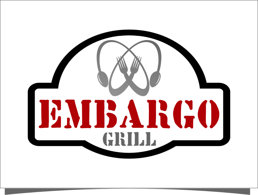 Logo Design by RoSyid Rono-Rene On Java - Entry No. 2 in the Logo Design Contest Captivating Logo Design for Embargo Grill.