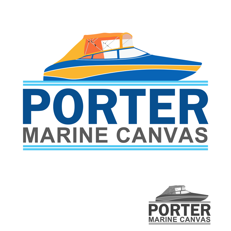 Logo Design by Robert Turla - Entry No. 34 in the Logo Design Contest Imaginative Logo Design for Porter Marine Canvas.