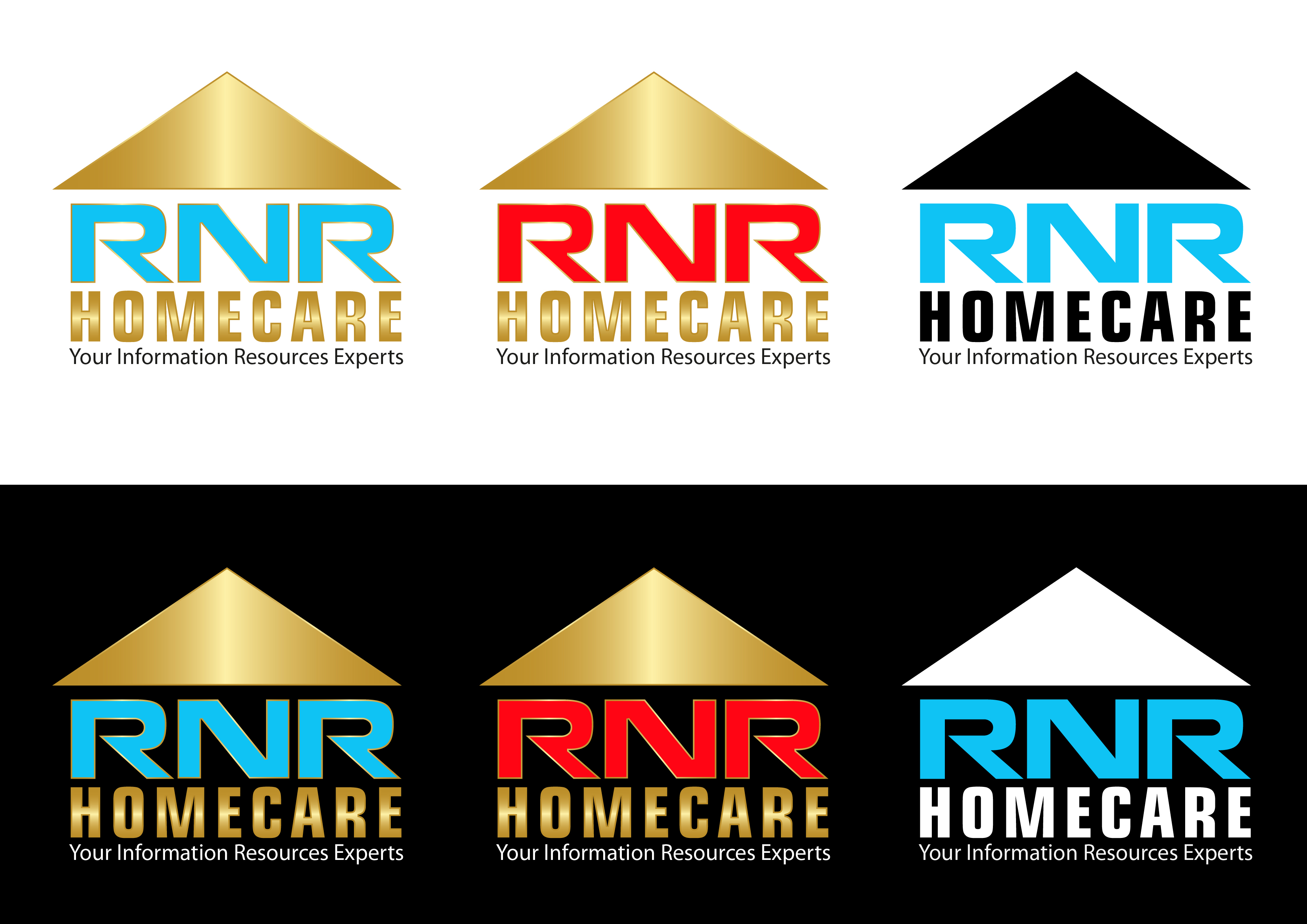 Logo Design by 3draw - Entry No. 32 in the Logo Design Contest Imaginative Logo Design for RNR HomeCare.