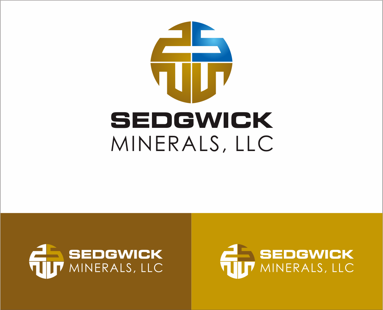 Logo Design by Armada Jamaluddin - Entry No. 73 in the Logo Design Contest Inspiring Logo Design for Sedgwick Minerals, LLC.