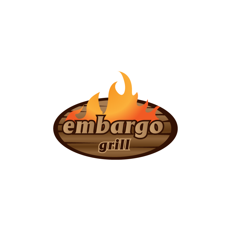 Logo Design by zesthar - Entry No. 4 in the Logo Design Contest Captivating Logo Design for Embargo Grill.