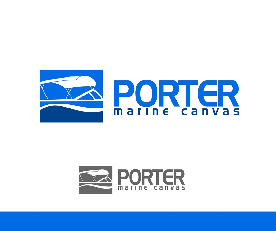 Logo Design by Respati Himawan - Entry No. 39 in the Logo Design Contest Imaginative Logo Design for Porter Marine Canvas.