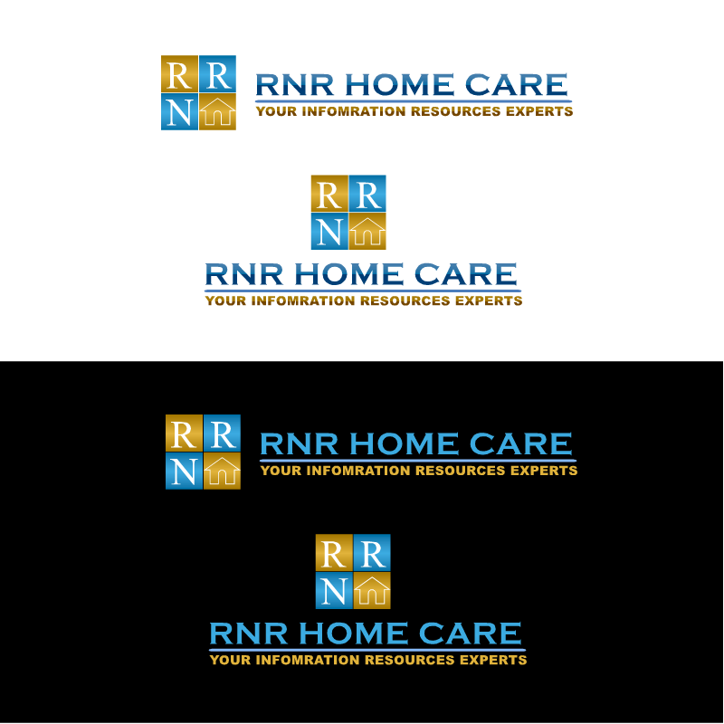 Logo Design by RAJU CHATTERJEE - Entry No. 39 in the Logo Design Contest Imaginative Logo Design for RNR HomeCare.