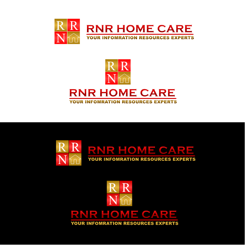 Logo Design by RAJU CHATTERJEE - Entry No. 40 in the Logo Design Contest Imaginative Logo Design for RNR HomeCare.