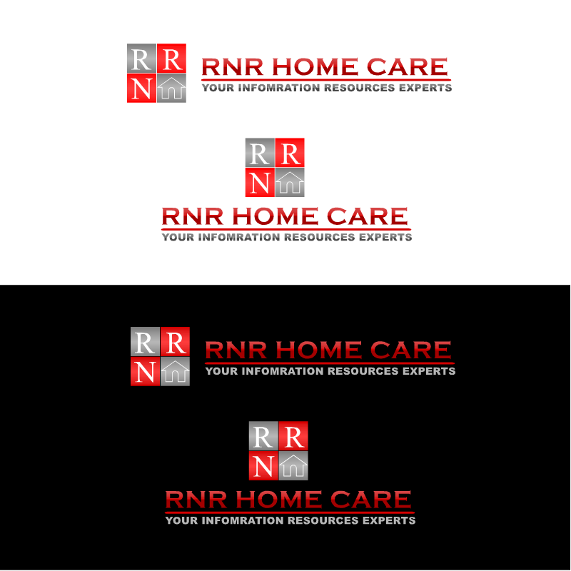 Logo Design by RAJU CHATTERJEE - Entry No. 41 in the Logo Design Contest Imaginative Logo Design for RNR HomeCare.