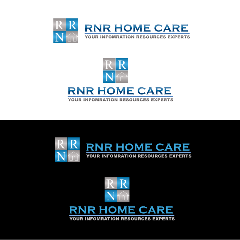Logo Design by RAJU CHATTERJEE - Entry No. 42 in the Logo Design Contest Imaginative Logo Design for RNR HomeCare.