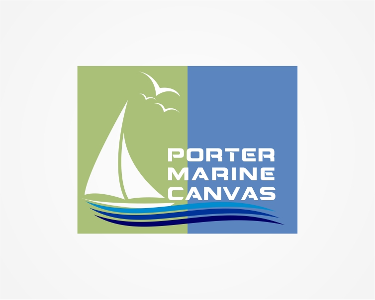 Logo Design by Private User - Entry No. 40 in the Logo Design Contest Imaginative Logo Design for Porter Marine Canvas.