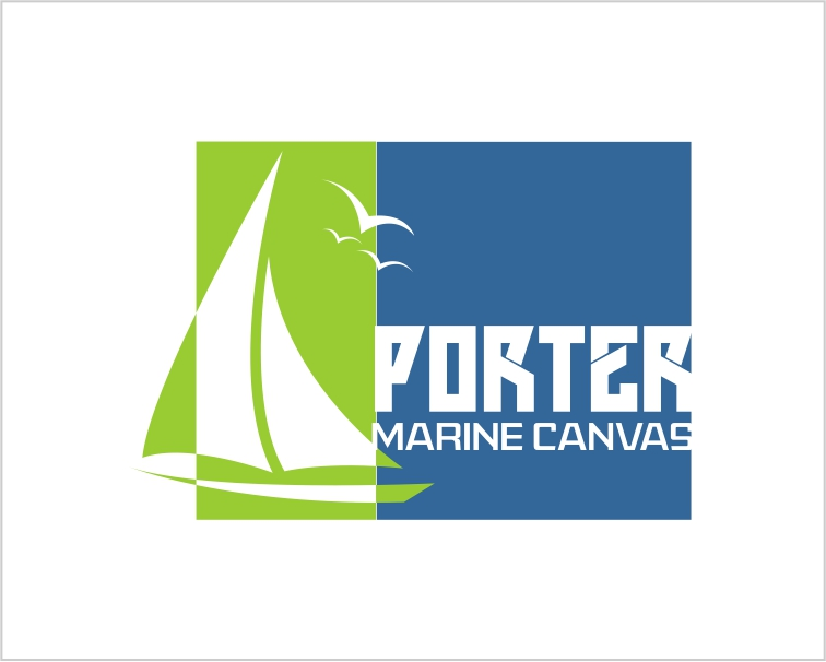Logo Design by Private User - Entry No. 41 in the Logo Design Contest Imaginative Logo Design for Porter Marine Canvas.