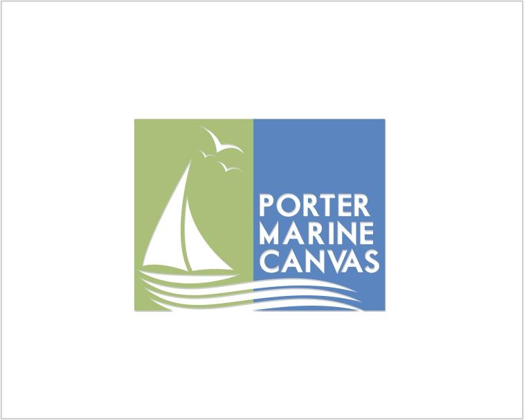 Logo Design by Private User - Entry No. 42 in the Logo Design Contest Imaginative Logo Design for Porter Marine Canvas.