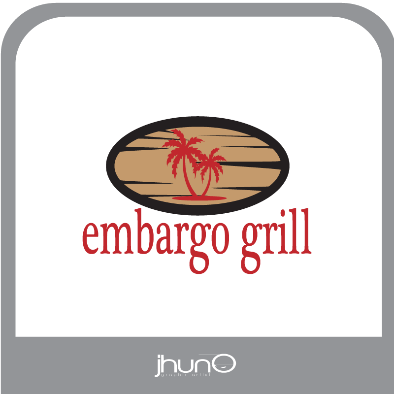 Logo Design by zesthar - Entry No. 5 in the Logo Design Contest Captivating Logo Design for Embargo Grill.