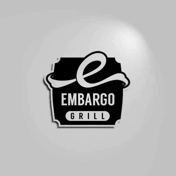 Logo Design by Private User - Entry No. 7 in the Logo Design Contest Captivating Logo Design for Embargo Grill.