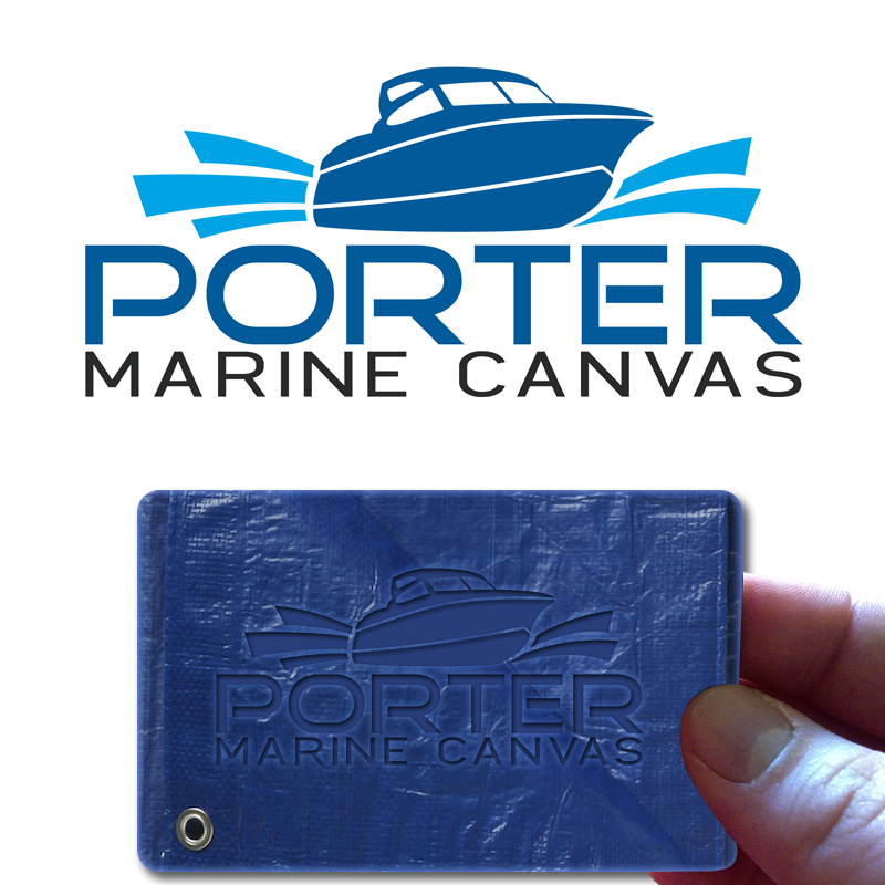 Logo Design by Private User - Entry No. 48 in the Logo Design Contest Imaginative Logo Design for Porter Marine Canvas.