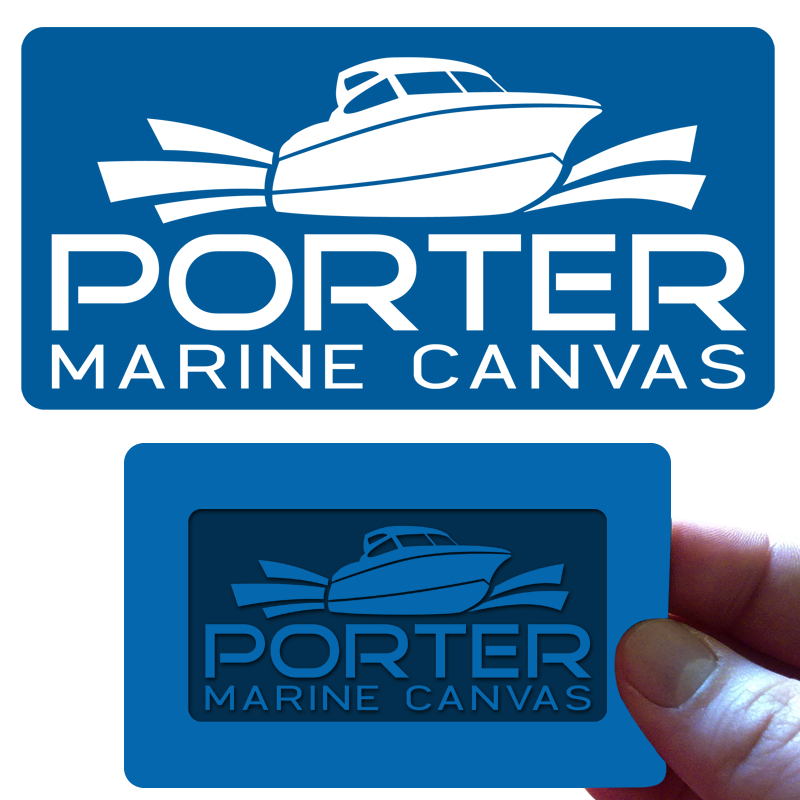 Logo Design by Private User - Entry No. 49 in the Logo Design Contest Imaginative Logo Design for Porter Marine Canvas.