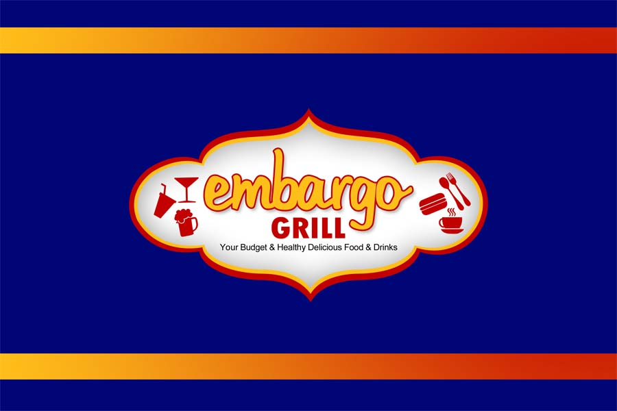 Logo Design by Private User - Entry No. 8 in the Logo Design Contest Captivating Logo Design for Embargo Grill.