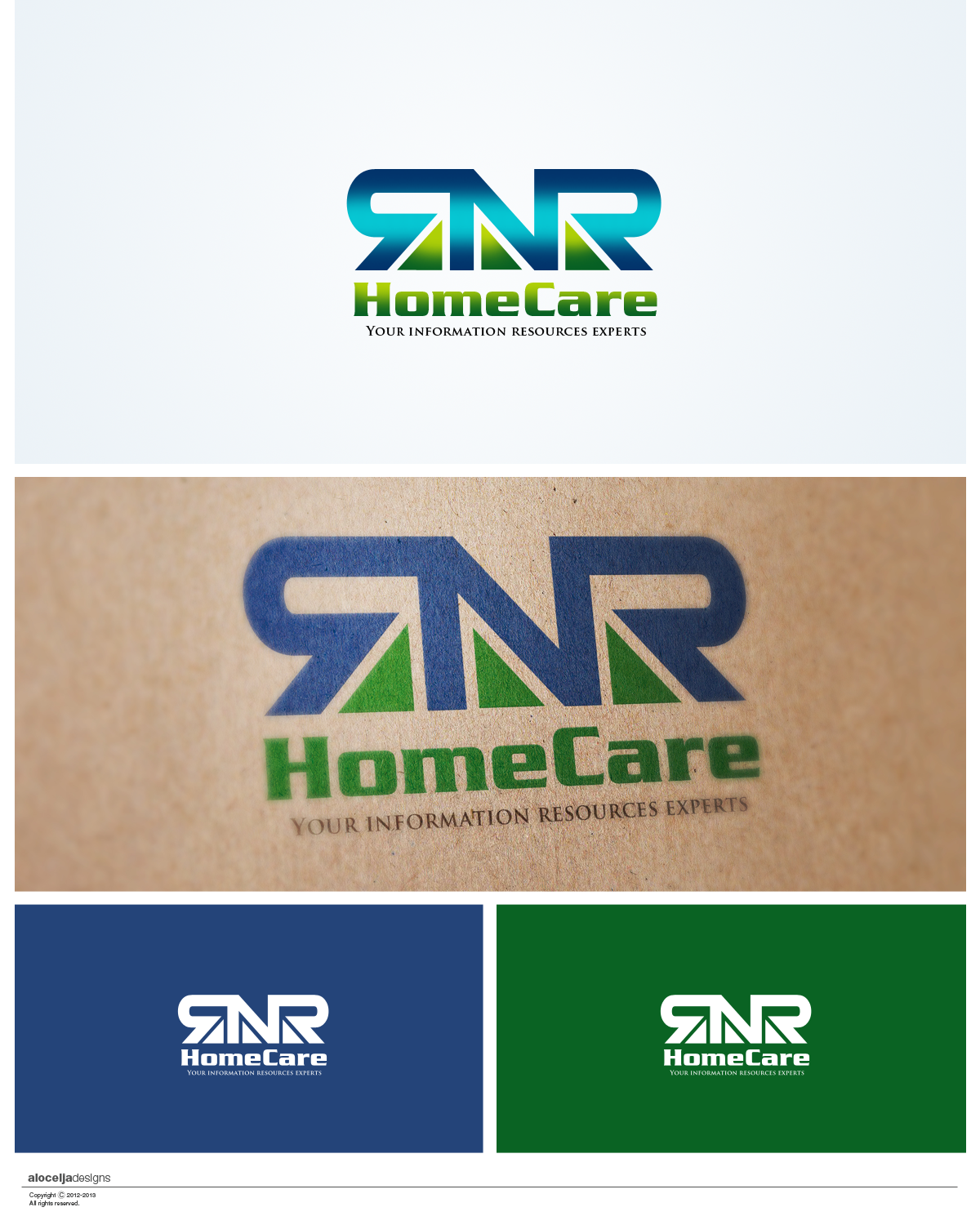 Logo Design by alocelja - Entry No. 48 in the Logo Design Contest Imaginative Logo Design for RNR HomeCare.