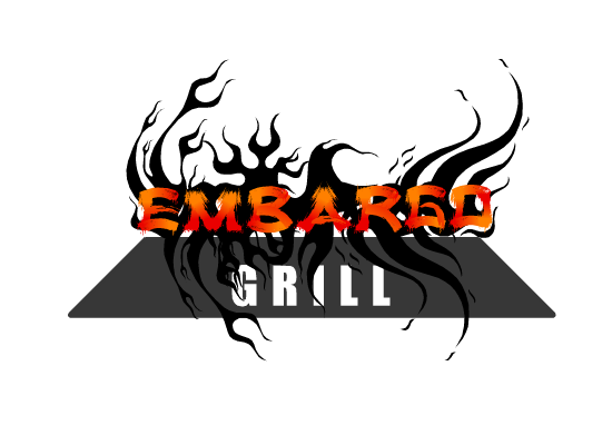 Logo Design by Ismail Adhi Wibowo - Entry No. 9 in the Logo Design Contest Captivating Logo Design for Embargo Grill.