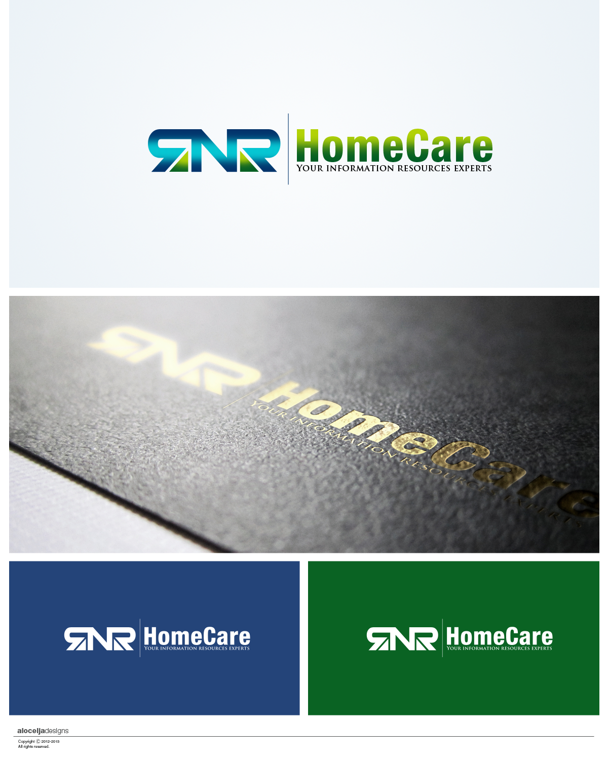 Logo Design by alocelja - Entry No. 49 in the Logo Design Contest Imaginative Logo Design for RNR HomeCare.