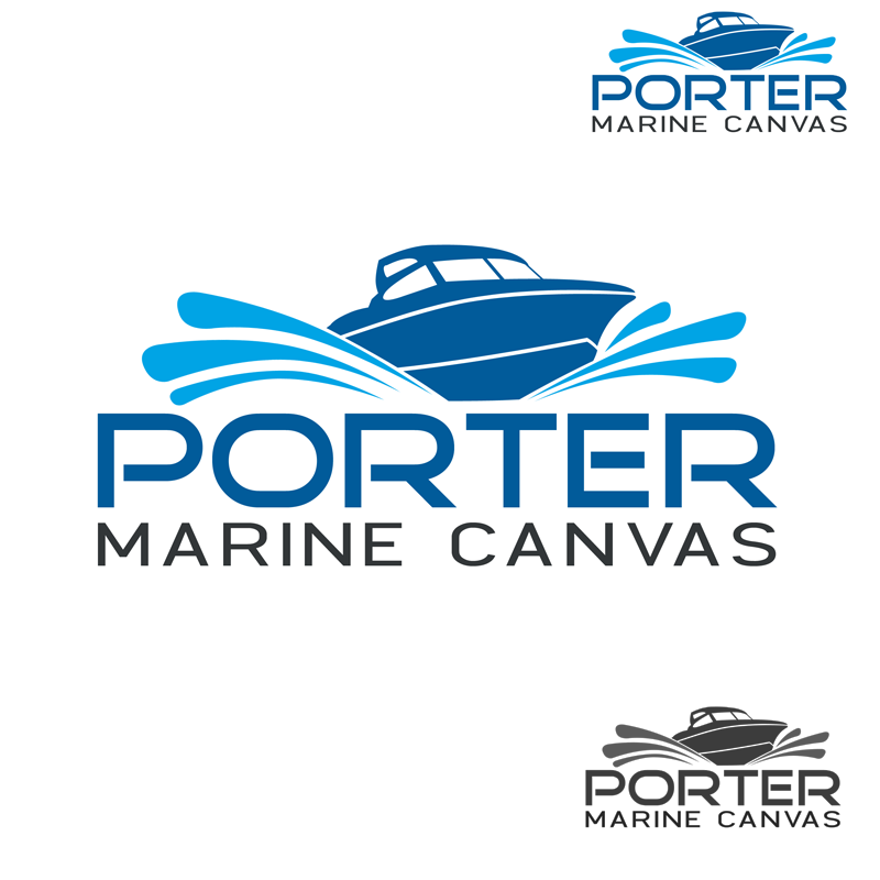 Logo Design by Private User - Entry No. 56 in the Logo Design Contest Imaginative Logo Design for Porter Marine Canvas.