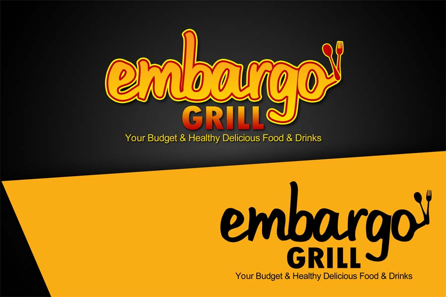 Logo Design by Private User - Entry No. 14 in the Logo Design Contest Captivating Logo Design for Embargo Grill.