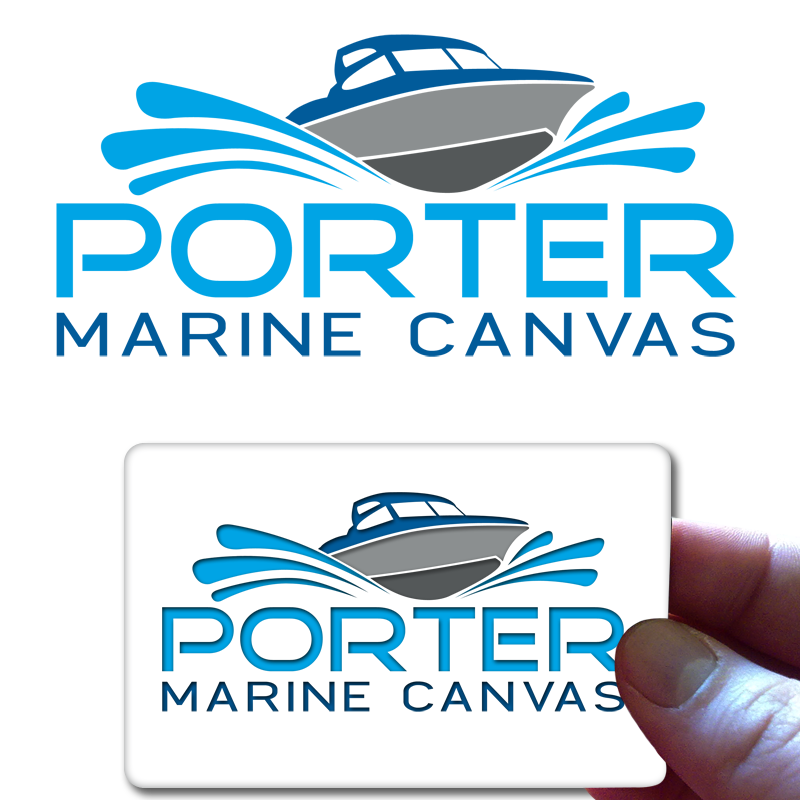 Logo Design by Private User - Entry No. 59 in the Logo Design Contest Imaginative Logo Design for Porter Marine Canvas.