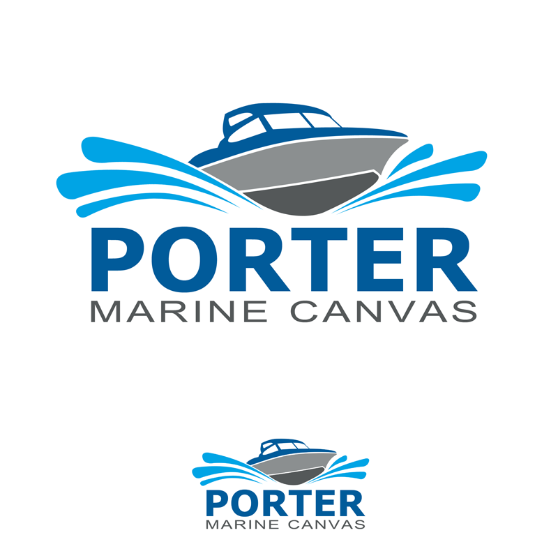 Logo Design by Private User - Entry No. 61 in the Logo Design Contest Imaginative Logo Design for Porter Marine Canvas.