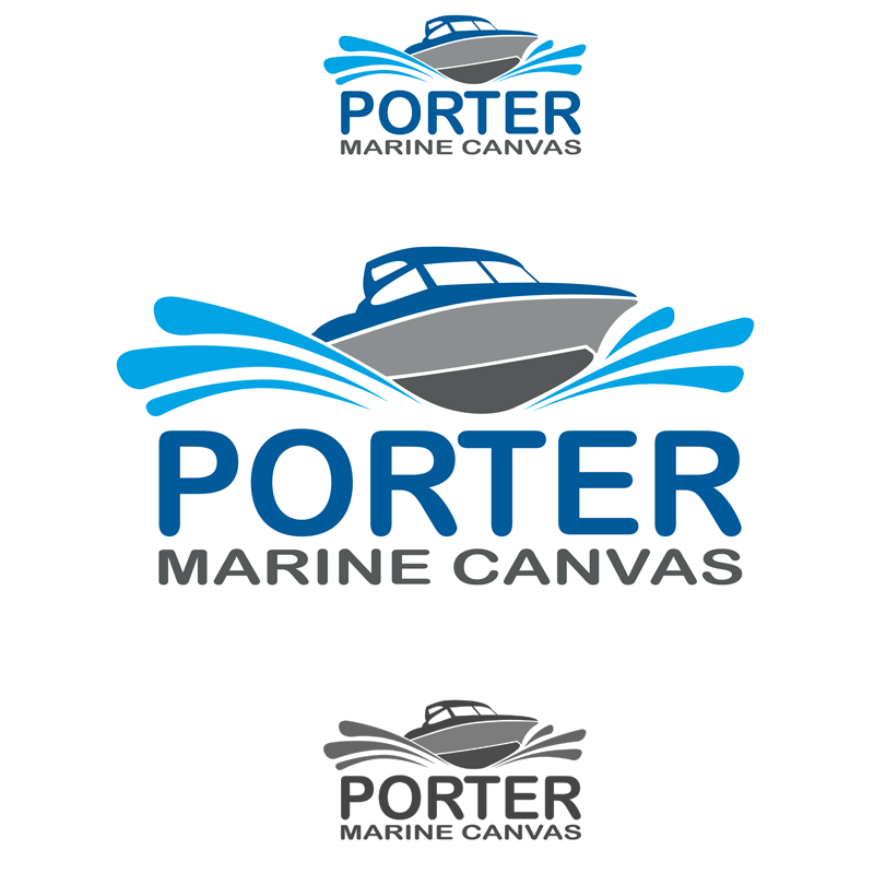 Logo Design by Private User - Entry No. 62 in the Logo Design Contest Imaginative Logo Design for Porter Marine Canvas.