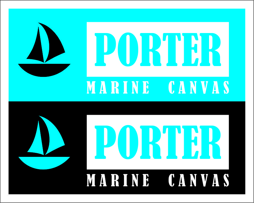 Logo Design by Agus Martoyo - Entry No. 63 in the Logo Design Contest Imaginative Logo Design for Porter Marine Canvas.
