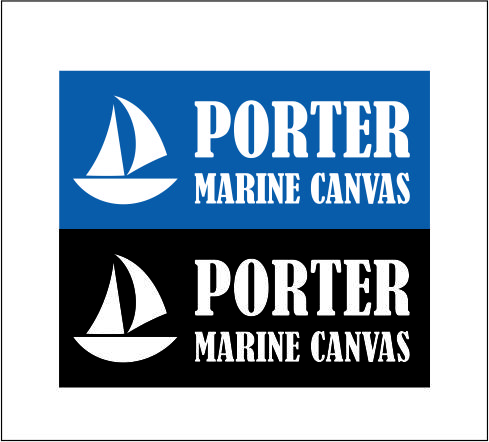 Logo Design by Agus Martoyo - Entry No. 65 in the Logo Design Contest Imaginative Logo Design for Porter Marine Canvas.