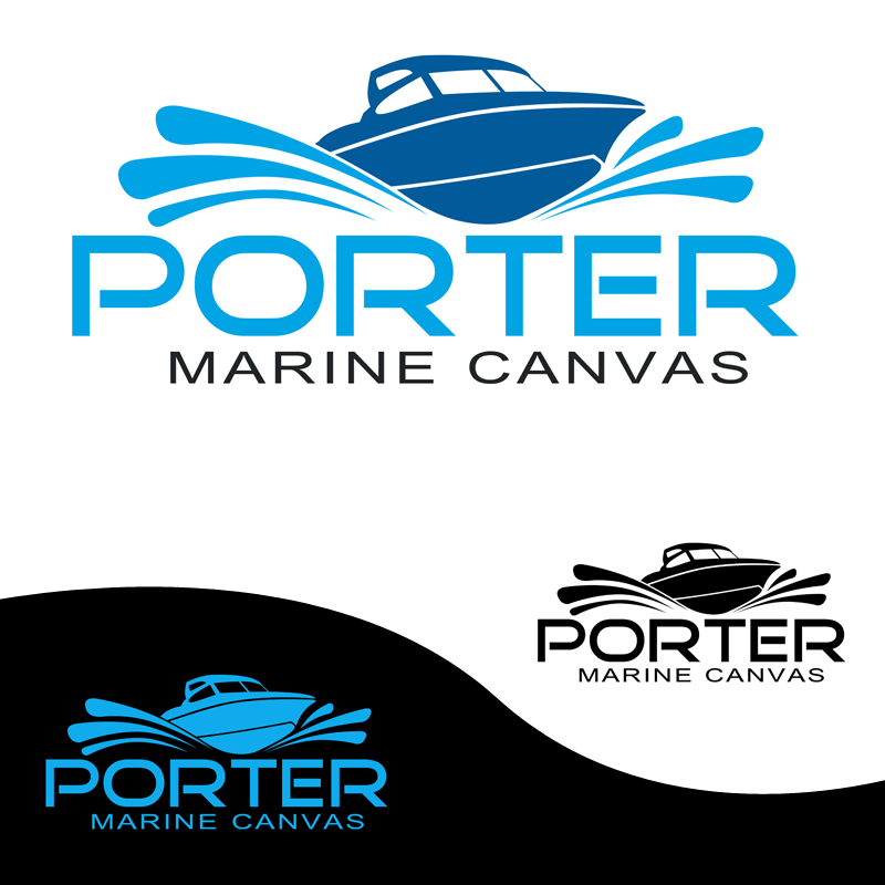 Logo Design by Private User - Entry No. 67 in the Logo Design Contest Imaginative Logo Design for Porter Marine Canvas.