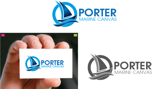Logo Design by Private User - Entry No. 69 in the Logo Design Contest Imaginative Logo Design for Porter Marine Canvas.