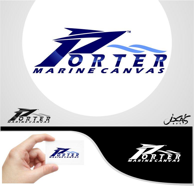 Logo Design by joca - Entry No. 74 in the Logo Design Contest Imaginative Logo Design for Porter Marine Canvas.