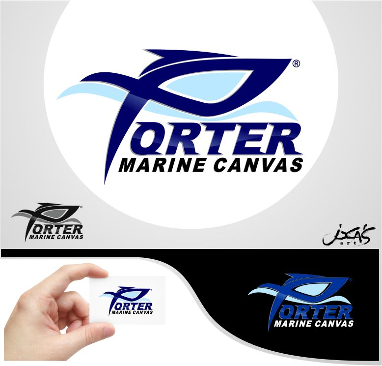 Logo Design by joca - Entry No. 75 in the Logo Design Contest Imaginative Logo Design for Porter Marine Canvas.