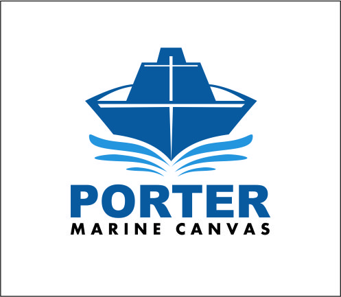 Logo Design by Agus Martoyo - Entry No. 78 in the Logo Design Contest Imaginative Logo Design for Porter Marine Canvas.