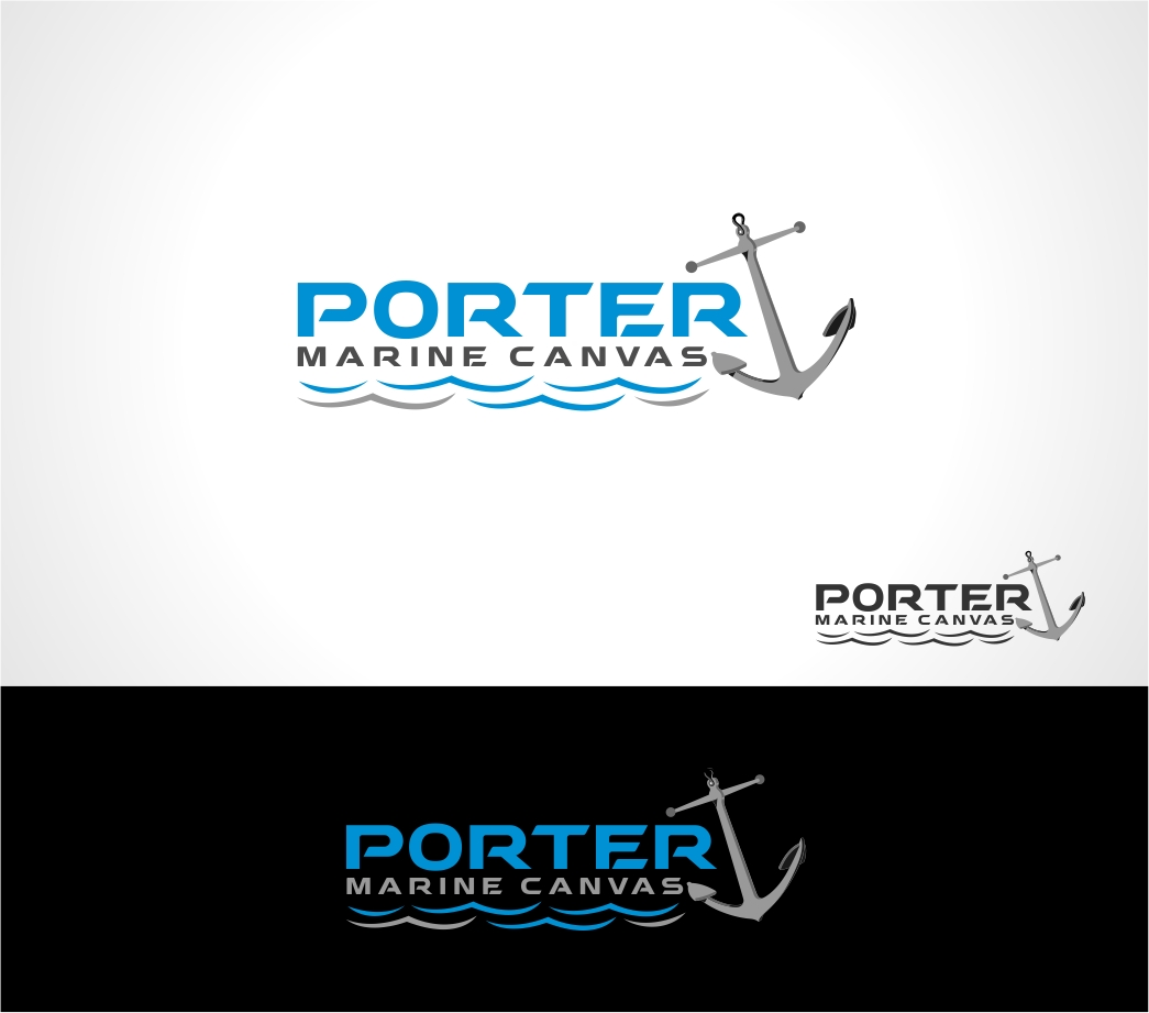 Logo Design by haidu - Entry No. 80 in the Logo Design Contest Imaginative Logo Design for Porter Marine Canvas.