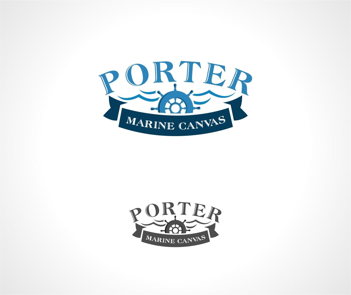 Logo Design by haidu - Entry No. 82 in the Logo Design Contest Imaginative Logo Design for Porter Marine Canvas.