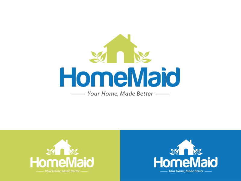 Logo Design by Sai Prathik - Entry No. 40 in the Logo Design Contest Unique Logo Design Wanted for HomeMaid.