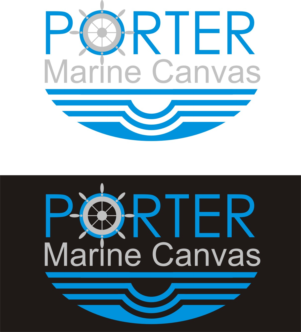 Logo Design by Korsunov Oleg - Entry No. 86 in the Logo Design Contest Imaginative Logo Design for Porter Marine Canvas.