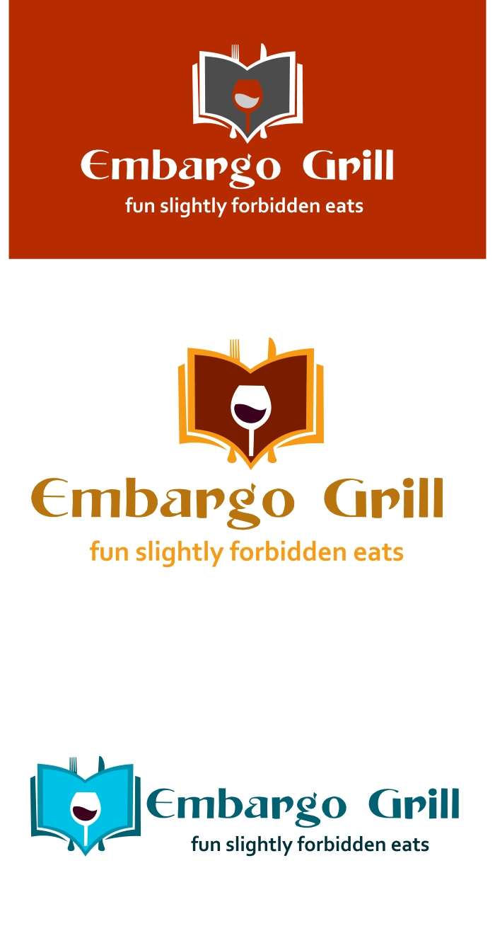 Logo Design by Private User - Entry No. 21 in the Logo Design Contest Captivating Logo Design for Embargo Grill.