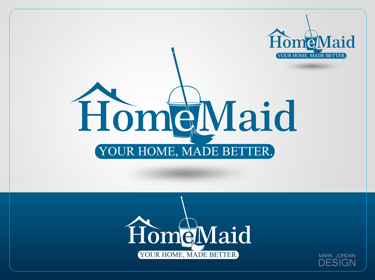 Logo Design by Mark Anthony Moreto Jordan - Entry No. 42 in the Logo Design Contest Unique Logo Design Wanted for HomeMaid.