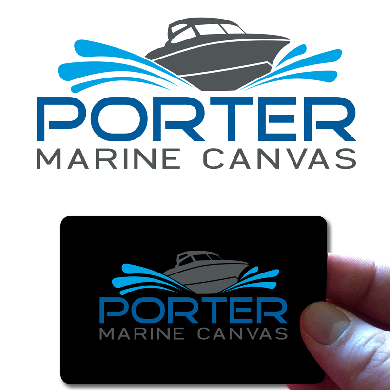 Logo Design by Private User - Entry No. 87 in the Logo Design Contest Imaginative Logo Design for Porter Marine Canvas.
