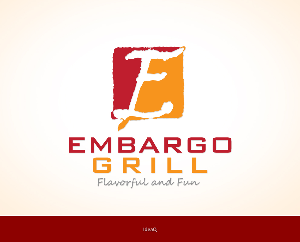 Logo Design by Private User - Entry No. 22 in the Logo Design Contest Captivating Logo Design for Embargo Grill.